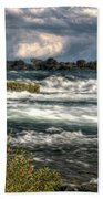 0015 Niagara Falls Misty Blue Series Beach Towel