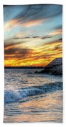0016 Awe In One Sunset Series At Erie Basin Marina Beach Towel