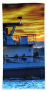 0017 Awe In One Sunset Series At Erie Basin Marina Beach Towel