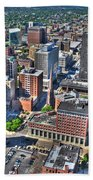 0017 Visual Highs Of The Queen City Beach Towel