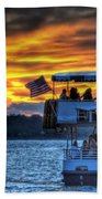 0019 Awe In One Sunset Series At Erie Basin Marina Beach Towel