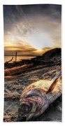002 After The Ice Melts Erie Basin Marina Series Beach Towel