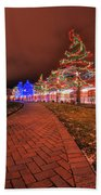 002 Christmas Light Show At Roswell Series Beach Towel