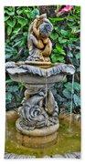 002 Fountain Buffalo Botanical Gardens Series Beach Towel