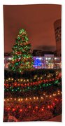 004 Christmas Light Show At Roswell Series Beach Towel