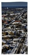 0042 After The Nov 2014 Storm Buffalo Ny Beach Towel