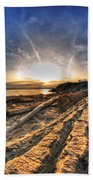005 After The Ice Melts Erie Basin Marina Series Beach Towel