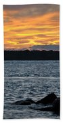 005 Awe In One Sunset Series At Erie Basin Marina Beach Towel