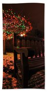 005 Christmas Light Show At Roswell Series Beach Towel