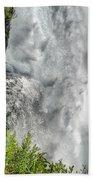 005 Niagara Falls Misty Blue Series Beach Towel