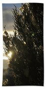 005 Peaking Winter Sunrise Beach Towel