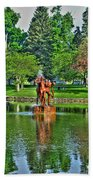 005 Reflecting At Forest Lawn Beach Towel
