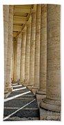 0056 Roman Pillars St. Peter's Basilica Rome Beach Towel