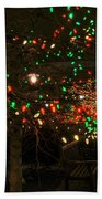 007 Christmas Light Show At Roswell Series Beach Towel