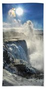 007 Niagara Falls Winter Wonderland Series Beach Towel