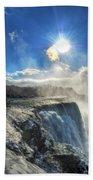 008 Niagara Falls Winter Wonderland Series Beach Towel