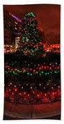 009 Christmas Light Show At Roswell Series Beach Towel