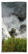 009 Niagara Falls Misty Blue Series Beach Towel