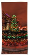 012 Christmas Light Show At Roswell Series Beach Towel