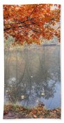 0132 Autumn At Starved Rock Beach Towel