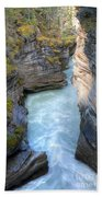 0142 Athabasca River Canyon Beach Towel