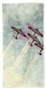 0166 - Air Show - Colored Photo 2 Hp Beach Towel
