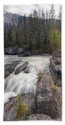 0182 Natural Bridge Waterfall Beach Towel