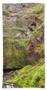 0237 Multnomah Falls Oregon Beach Towel