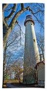 0378 Grosse Point Lighthouse Beach Towel
