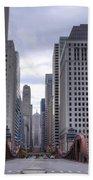 0500 Lasalle Street Bridge Chicago Beach Towel