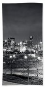 0647 Chicago Black And White Beach Towel