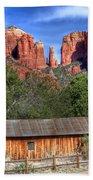 0682 Red Rock Crossing - Sedona Arizona Beach Towel by Steve Sturgill