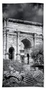 0791 The Arch Of Septimius Severus Black And White Beach Towel
