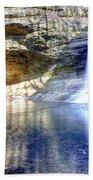 0943 Cascade Falls - Matthiessen State Park Beach Towel