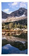 Cirque Of The Towers In Lonesome Lake 5 Beach Towel