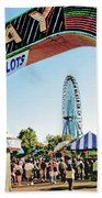 Midway Fun And Excitement  Beach Towel