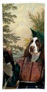 English Springer Spaniel Art Canvas Print Beach Towel