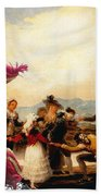 Irish Water Spaniel Art Canvas Print Beach Towel