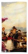 Irish Water Spaniel Art Canvas Print Beach Sheet