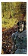 Tibetan Mastiff Art Canvas Print Beach Towel