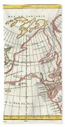 1772 Vaugondy  Diderot Map Of Alaska The Pacific Northwest And The Northwest Passage Beach Towel