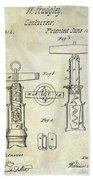 1862 Corkscrew Patent Drawing Beach Towel
