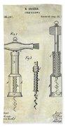 1876 Corkscrew Patent Drawing Beach Sheet