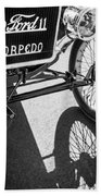1911 Ford Model T Torpedo Grille Emblem Beach Towel