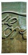 1912 Ford Hood Ornament - Emblem -0496bw Beach Towel