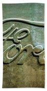 1912 Ford Hood Ornament - Emblem -0496bw Beach Sheet