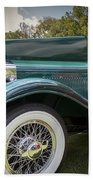1929 Isotta Fraschini Tipo 8a Convertible Sedan Beach Towel