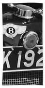 1931 Bentley 4.5 Liter Supercharged Le Mans Taillight Emblem Beach Towel