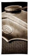 1931 Ford Grille Emblem Beach Towel