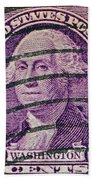 1932 George Washington Stamp Beach Towel